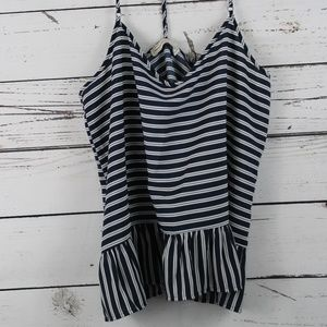 ABERCROMBIE AND FITCH CAMISOLE STRIPED RUFFLED